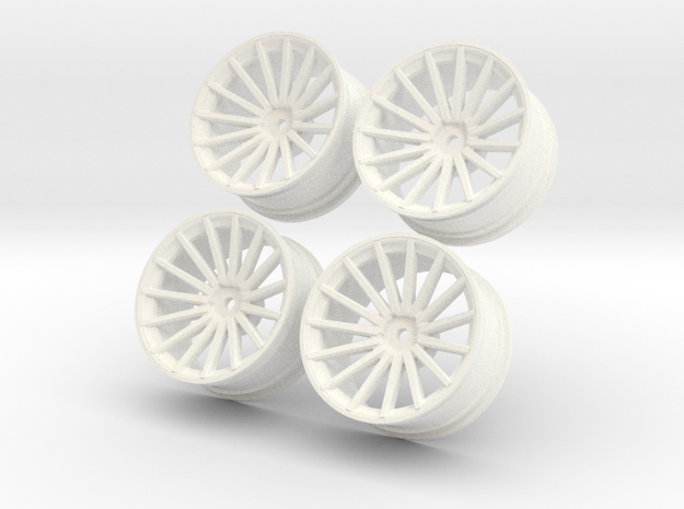 1/10 Touring Car Vossen VFS2 Wheel Set  in White Processed Versatile Plastic