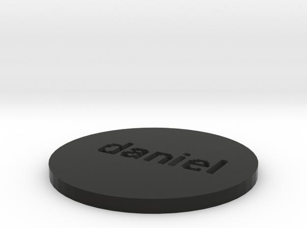 by kelecrea, engraved:   daniel 3d printed