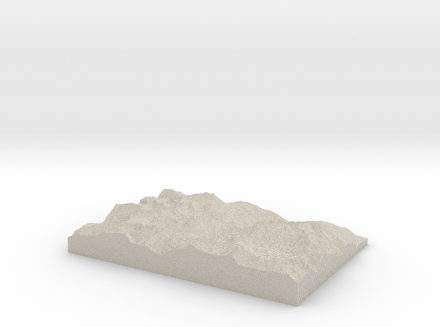 Model of Champery 3d printed