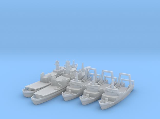 Cod War Set 2 1/1250 & 1800 in Smooth Fine Detail Plastic: 1:1250
