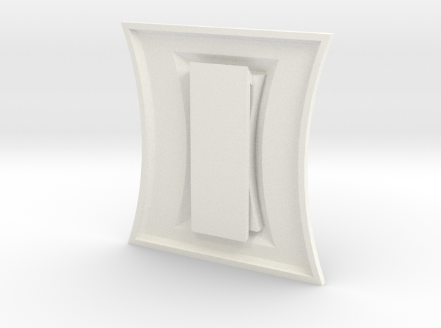 Widow Belt Buckle in White Processed Versatile Plastic