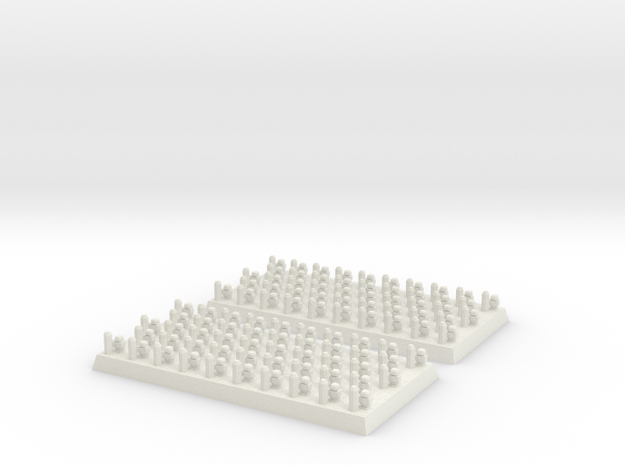 2mm DBA Auxilia 40x20mm in White Natural Versatile Plastic
