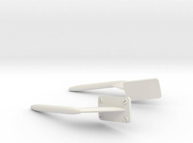 Scale AW139 Pitot Head in White Strong & Flexible