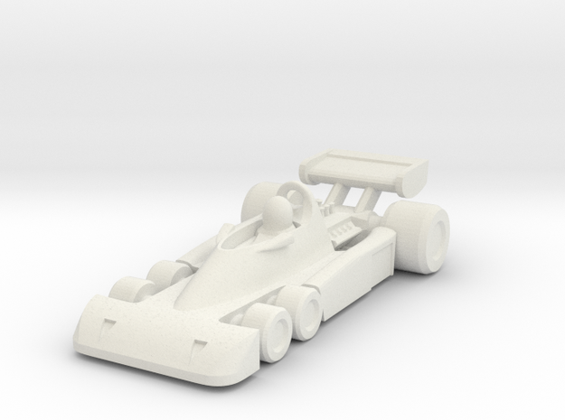 Tyrrel P34 HO scale in White Natural Versatile Plastic