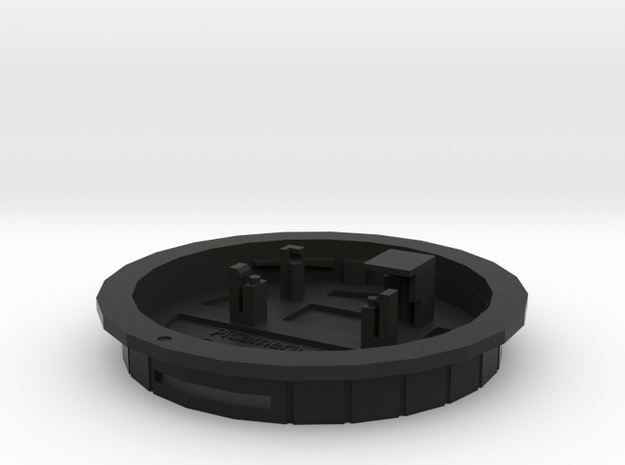 PiCamera Canon rear cap (bfd=0.0) in Black Strong & Flexible
