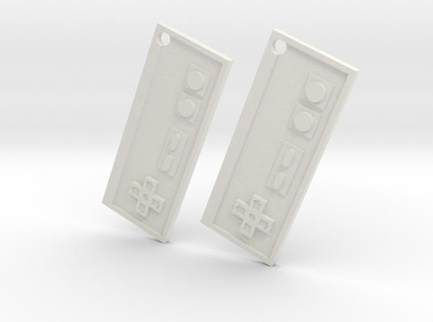Nes Earrings in White Natural Versatile Plastic