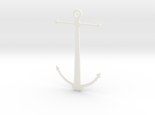 Anchor Pendant 3d printed