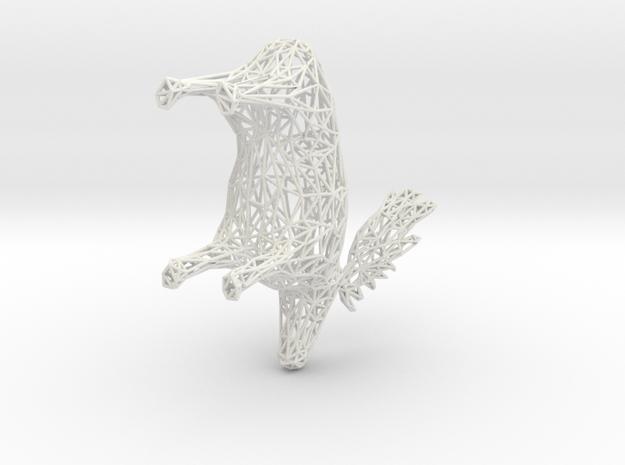 Moose in White Natural Versatile Plastic