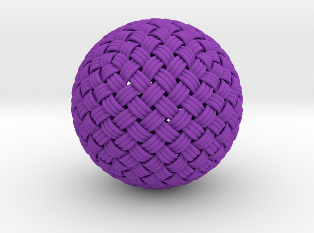 Single Stranded Globe Knot - 320 Facets 3d printed