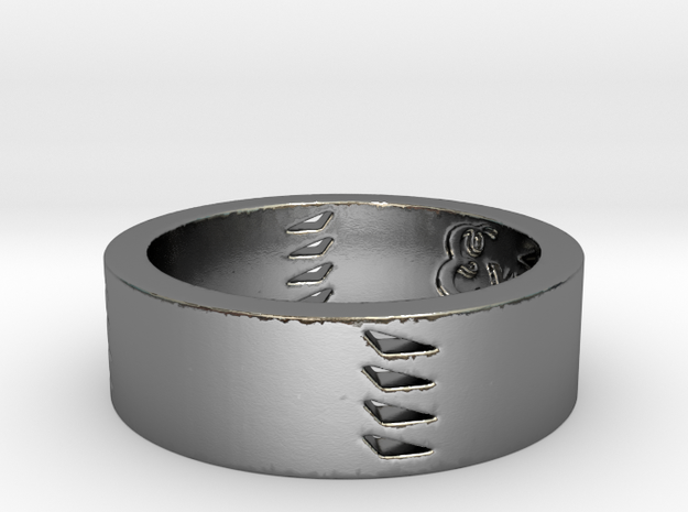 Explorers Ring Size 7  in Polished Silver
