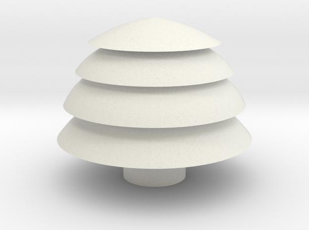 Tree container in White Natural Versatile Plastic