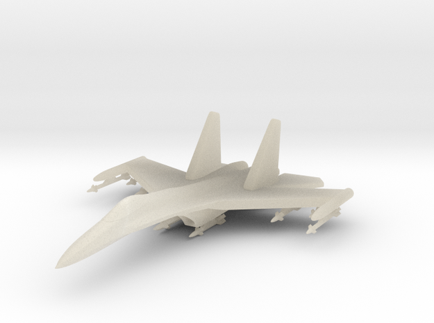 1/285 (6mm) SU-27 Flanker Ordnance & Missile Rails in White Acrylic