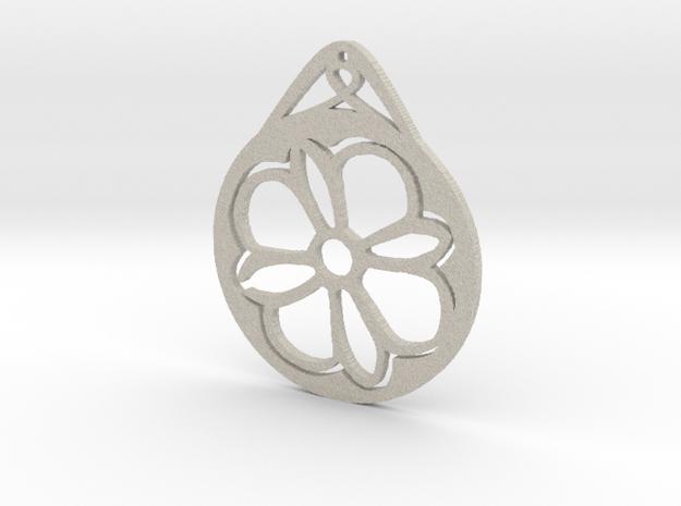 Hanging Ornament ~ Medieval Tile Design  in Natural Sandstone