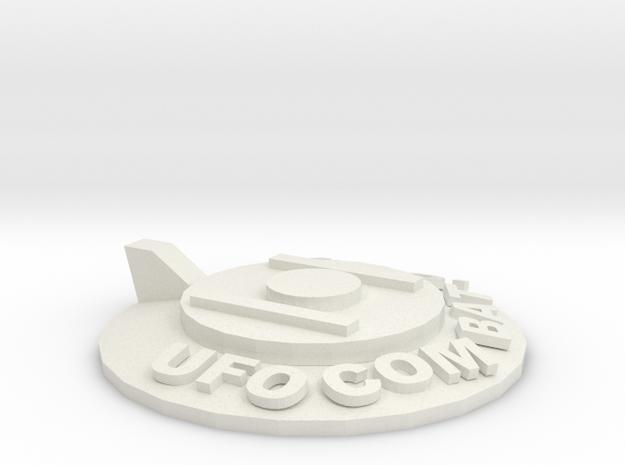 UFOCombat.com UFO 1 in White Natural Versatile Plastic