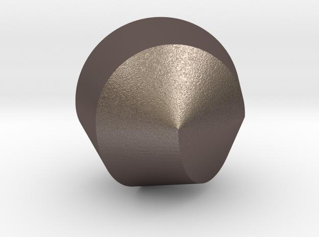 femi - yin yang in Polished Bronzed Silver Steel