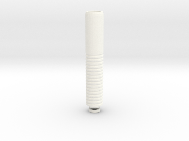 Long Drip Tip in White Processed Versatile Plastic
