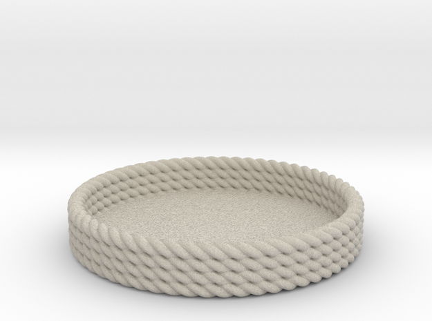 Rope Tray in Natural Sandstone