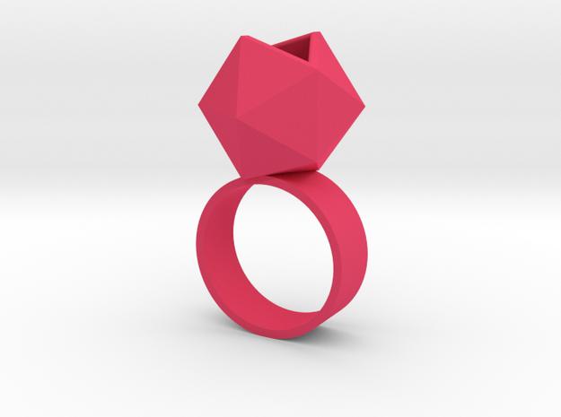 Icosahedron Planter Ring, Size 6 3d printed