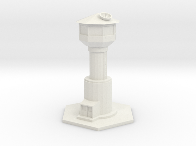 Sentry Tower (1/185th 6mm Scale) in White Strong & Flexible