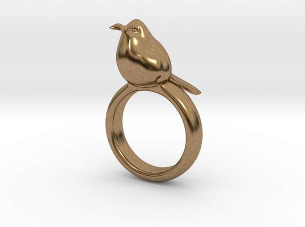 Ring with a bird on top of it 3d printed