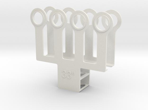 """HO 1/87 Paint mask for 33"""" diameter wheel sets  in White Natural Versatile Plastic"""