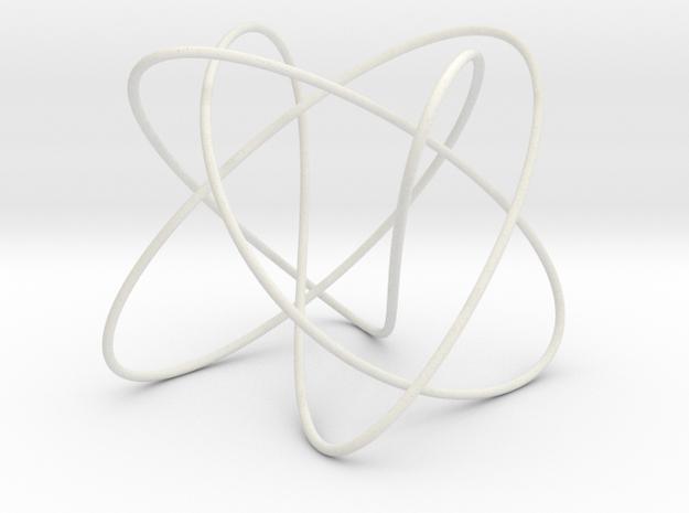 Lissajous (3, 5, 4) (π/2, π, π) in White Natural Versatile Plastic
