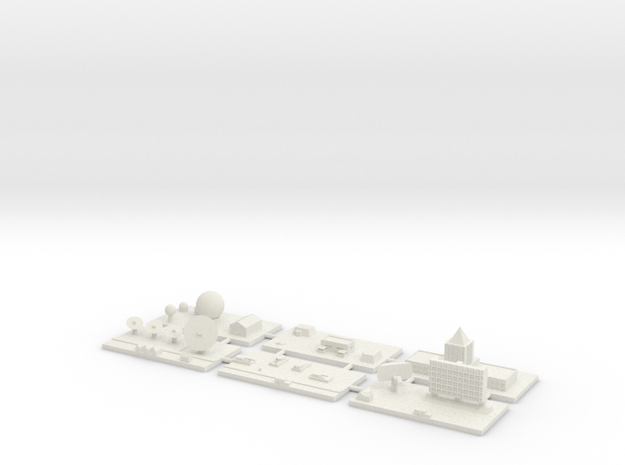 "1"" Building Set 7 - Command in White Natural Versatile Plastic"