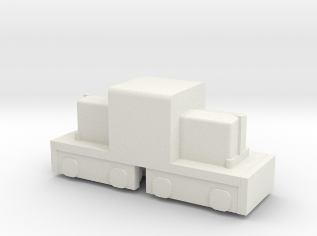 "7.5"" Gauge ""Mini"" Whitcomb - HO Scale (1/87) in White Natural Versatile Plastic"
