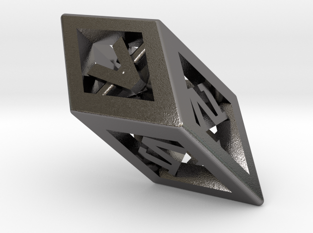 Crystal Dice Pendant (Roman Numerals) 3d printed