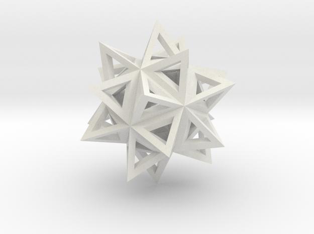 ikosaeder mit tetraedern (kante) in White Natural Versatile Plastic