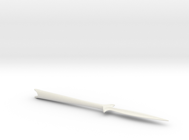 Elven warrior arrowhead in White Natural Versatile Plastic