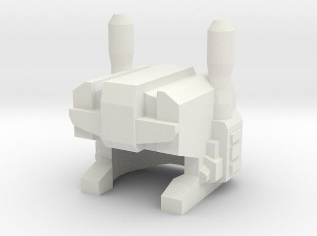 Gumshoebot Robohelmet in White Strong & Flexible