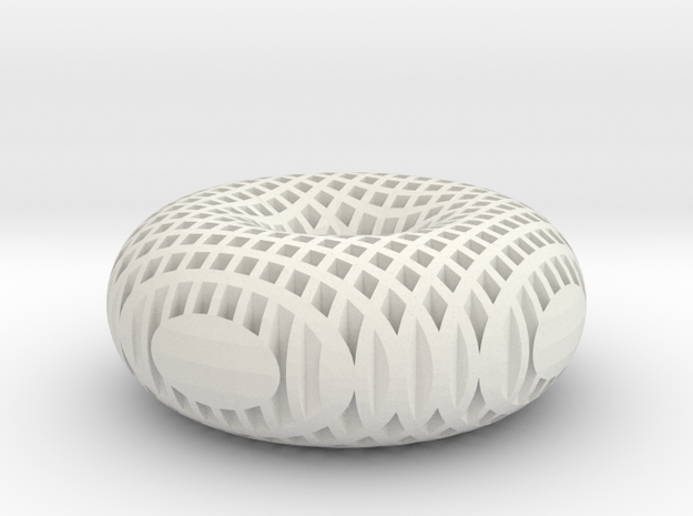 Hollow Mesh Torus in White Strong & Flexible