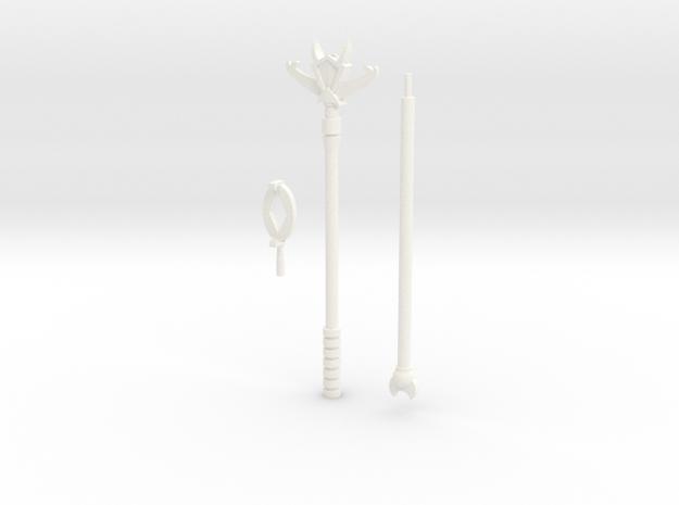Countstaff #3 in White Processed Versatile Plastic