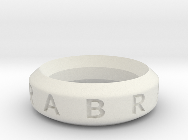 Abracadabra Ring in White Natural Versatile Plastic
