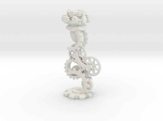 Clockwork Rook in White Natural Versatile Plastic