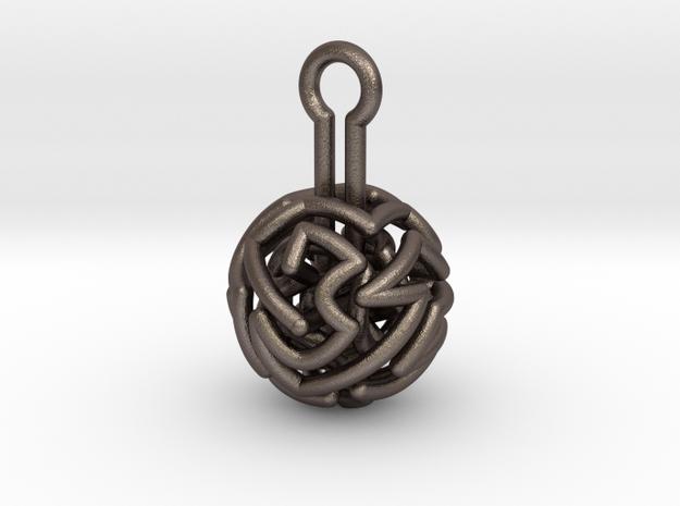 infinite labyrinth pendant 3d printed