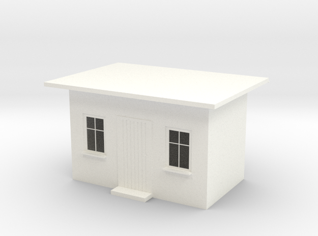 Wartehaus, H0 3d printed