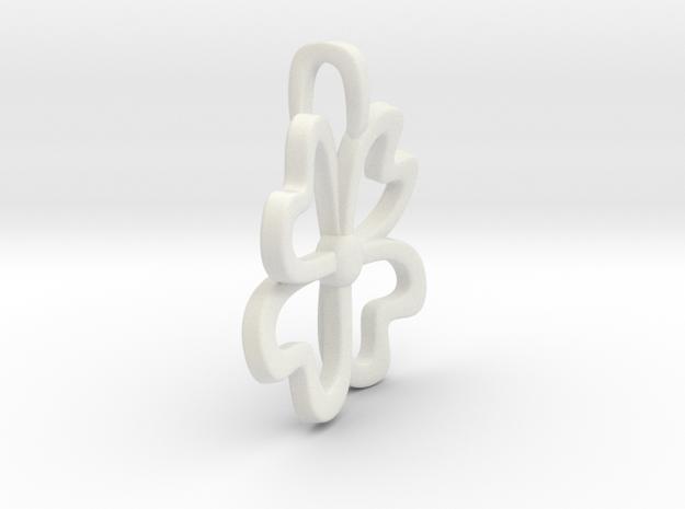 4-Heartleaf-clover in White Natural Versatile Plastic