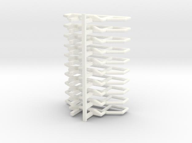 Bullenfänger für Mercedes Zetros in 1:87 in White Processed Versatile Plastic