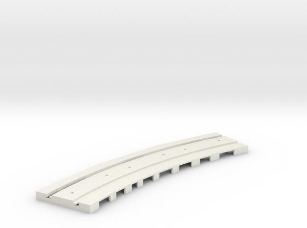 P-165stp-curve-tram-long-250r-pl-3a in White Natural Versatile Plastic