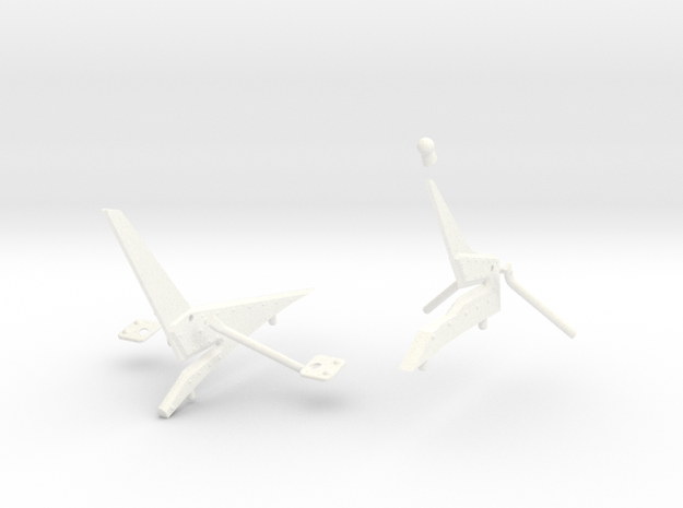 Scale Wire Cutter For Fun Key Eurocopter AS350 600 in White Strong & Flexible Polished