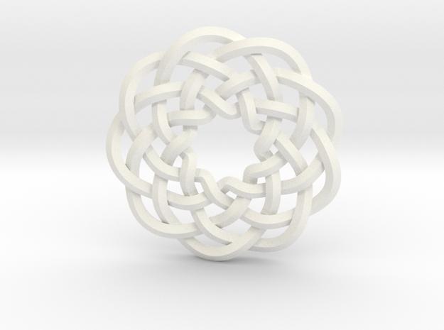 Woven Starburst Pendant 3d printed Pendant printed in stainless steel
