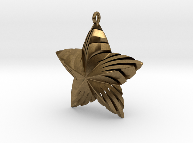 Tortuous Star Pendant in Natural Bronze