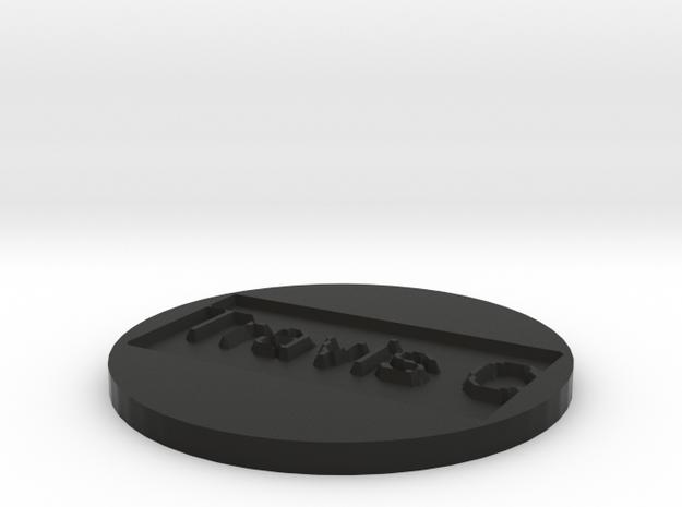 by kelecrea, engraved: Travis Carver 3d printed