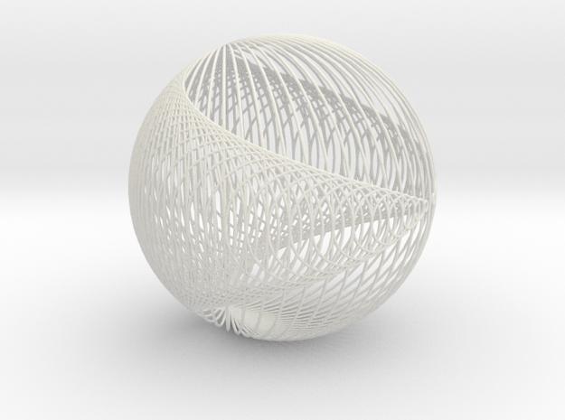 Cardio Sphere FormLabs 4 in White Natural Versatile Plastic