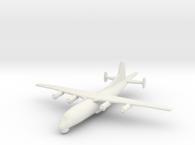 1/400 Shaanxi Y8 600 ASW in White Natural Versatile Plastic