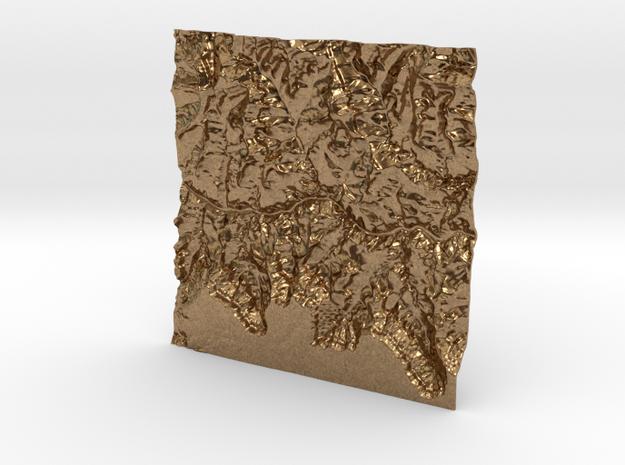 3'' Grand Canyon Terrain Model, Arizona, USA 3d printed
