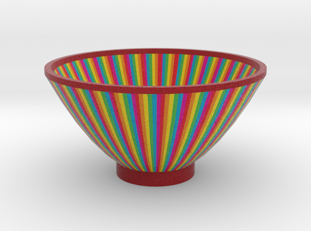 DRAW bowl - multicolor wedges in Full Color Sandstone