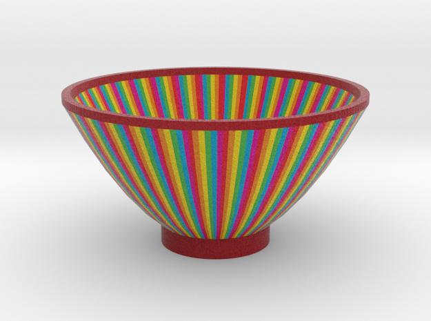 DRAW bowl - segmented D in Full Color Sandstone